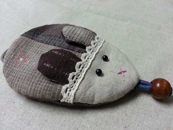 #Quilt  Mouse Key Holder by #FabricKorea on Etsy, $3.50 #Linen #Cotton #Yarn dyed #Lace #Key Holder #Handmade #Cotton fabric #Accessories