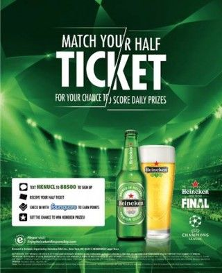 Heineken Road to the Final case study  #mobile #foursquare