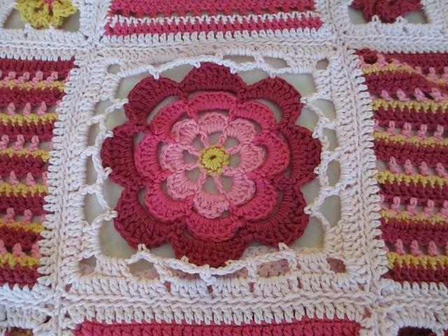 Orange Blossom Crochet Blanket Free Pattern | Orange blossom, Free ...