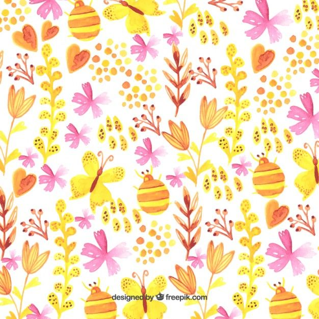 Download Watercolor Spring Background For Free