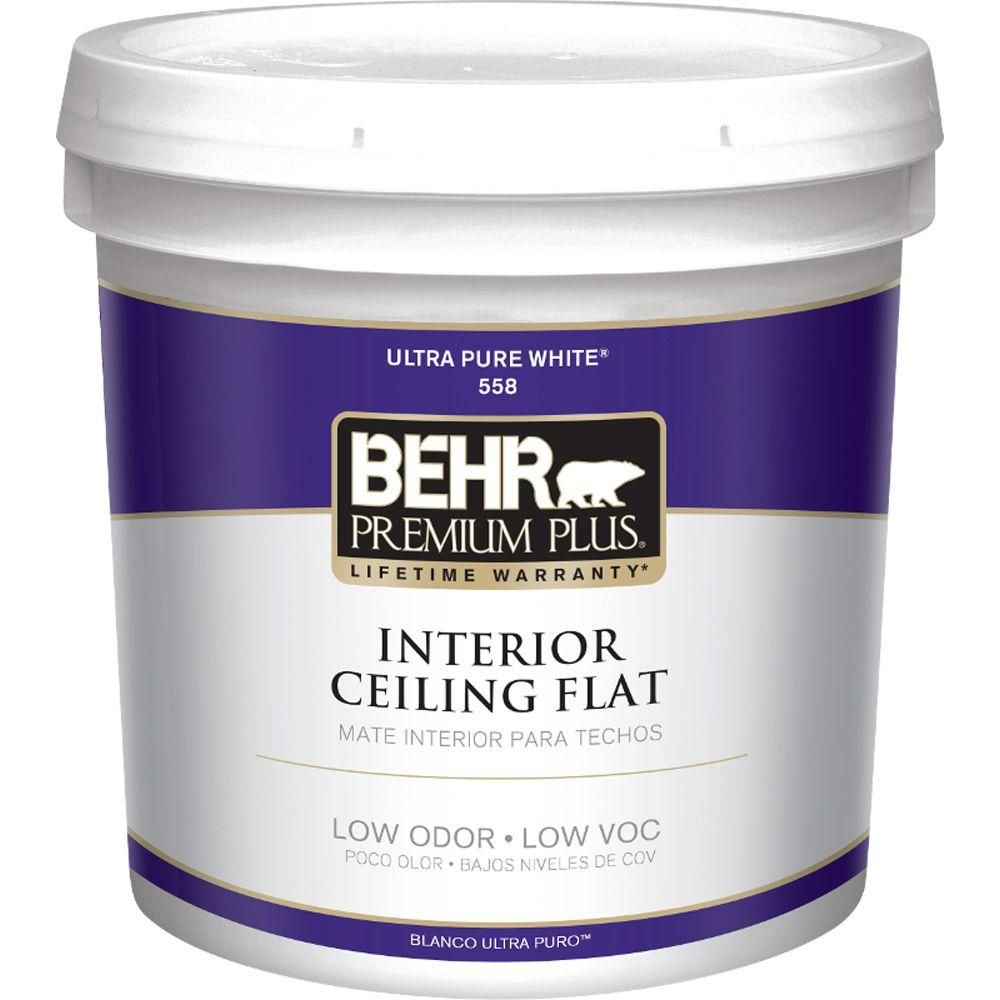 Behr Premium Plus 2 Gal Ultra Pure White Ceiling Flat Interior