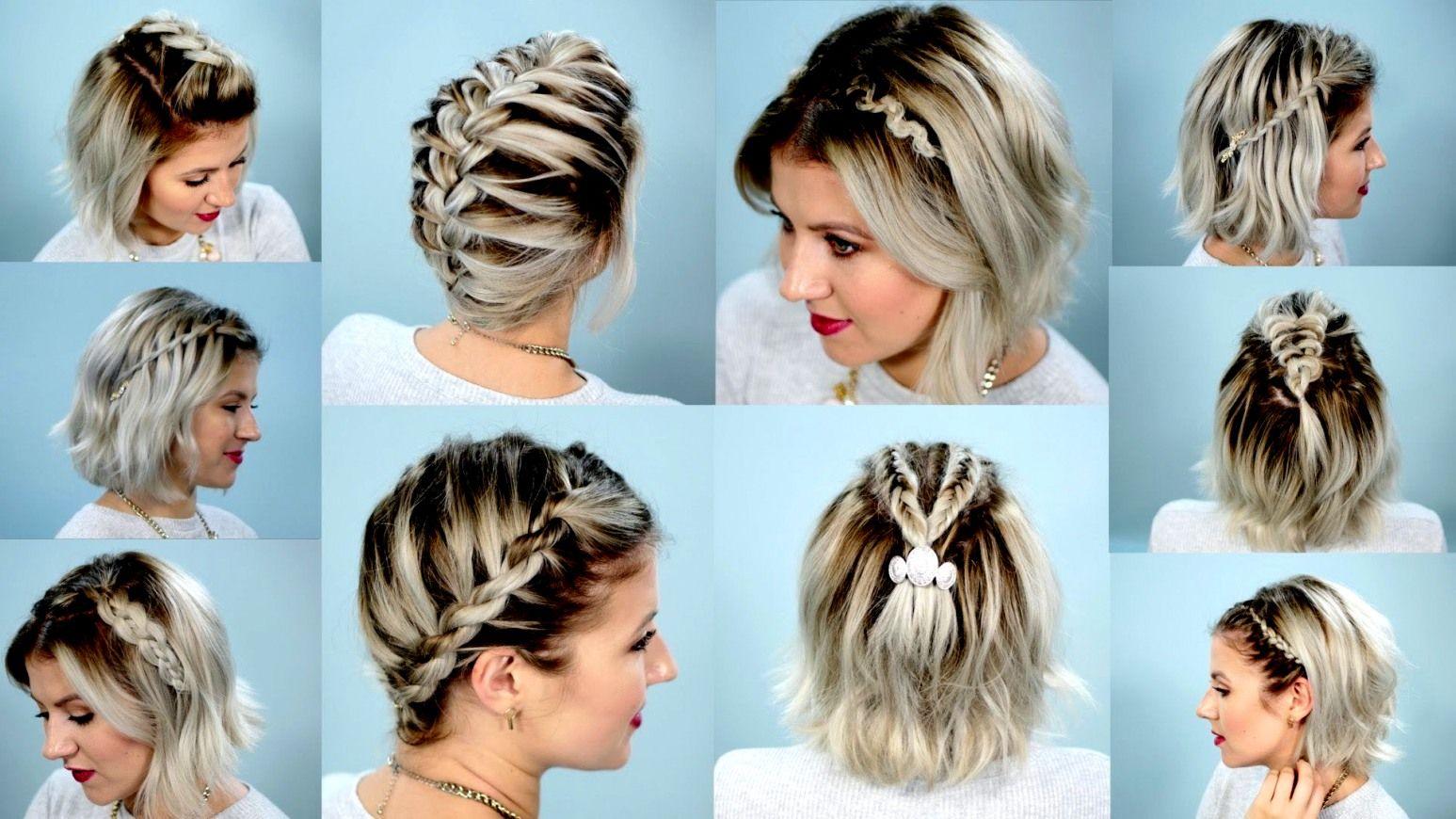 Frisuren Mit Kurzen Haaren Top Modische Kleider Geflochtene Frisuren Fur Kurze Haare Schulterlange Haare Flechten Zopf Kurze Haare