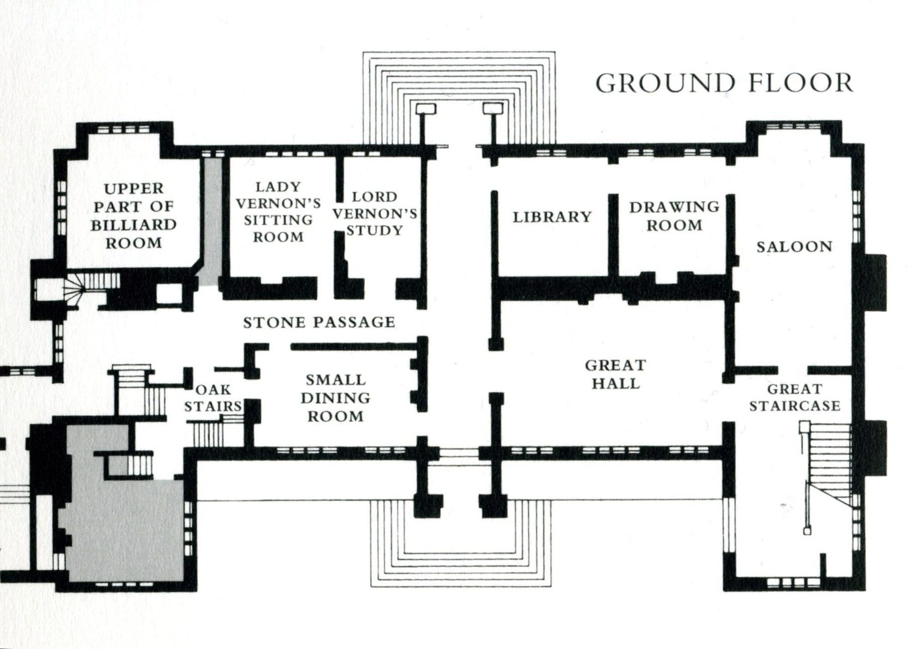 sudeley hall plan of the ground floor house plans pinterest sudeley hall plan of the ground floor