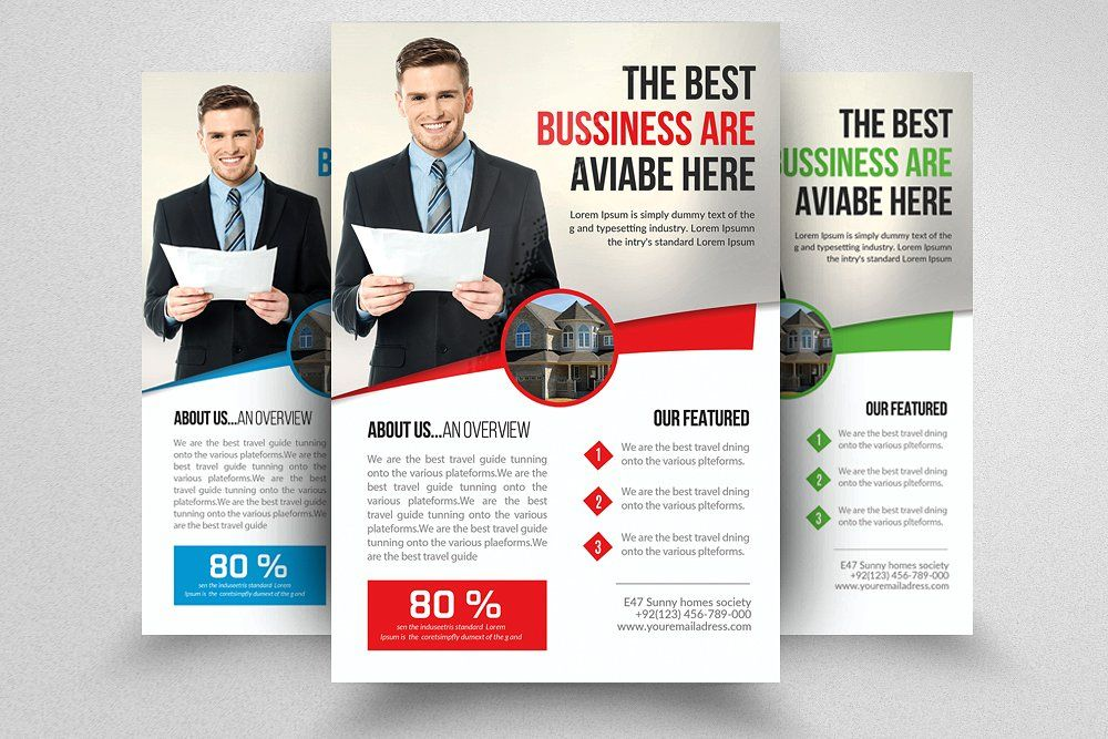 Real Estate Agent Flyer Business flyers, Estate agents and Real estate
