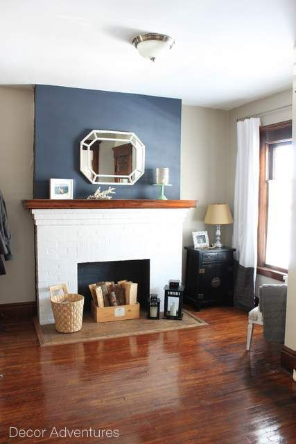 hale navy accent wall free printable elizabeth drive rh pinterest com  images of shiplap fireplace walls