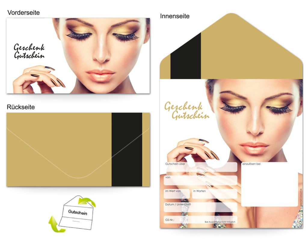 Gutschein Kosmetik Make Up Frau Gutschein Vorlage Gutscheine Make Up