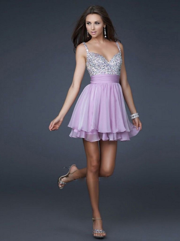 Chiffon Halter Natural Tea Length Sequin Tiered Backless Styles ...
