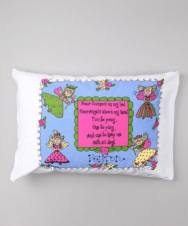 Take a look at this Angel Personalized Standard Pillowcase by Bunnies and Bows on #zulily today!
