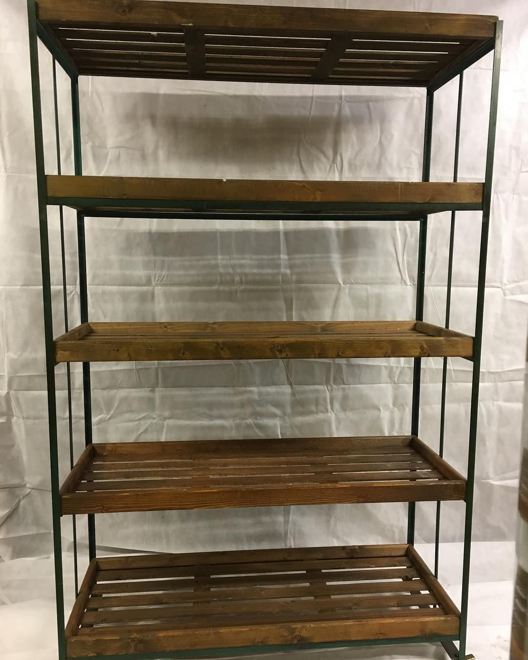 20s industrial factory trolley shelving on wheels WoodenTrolley ...