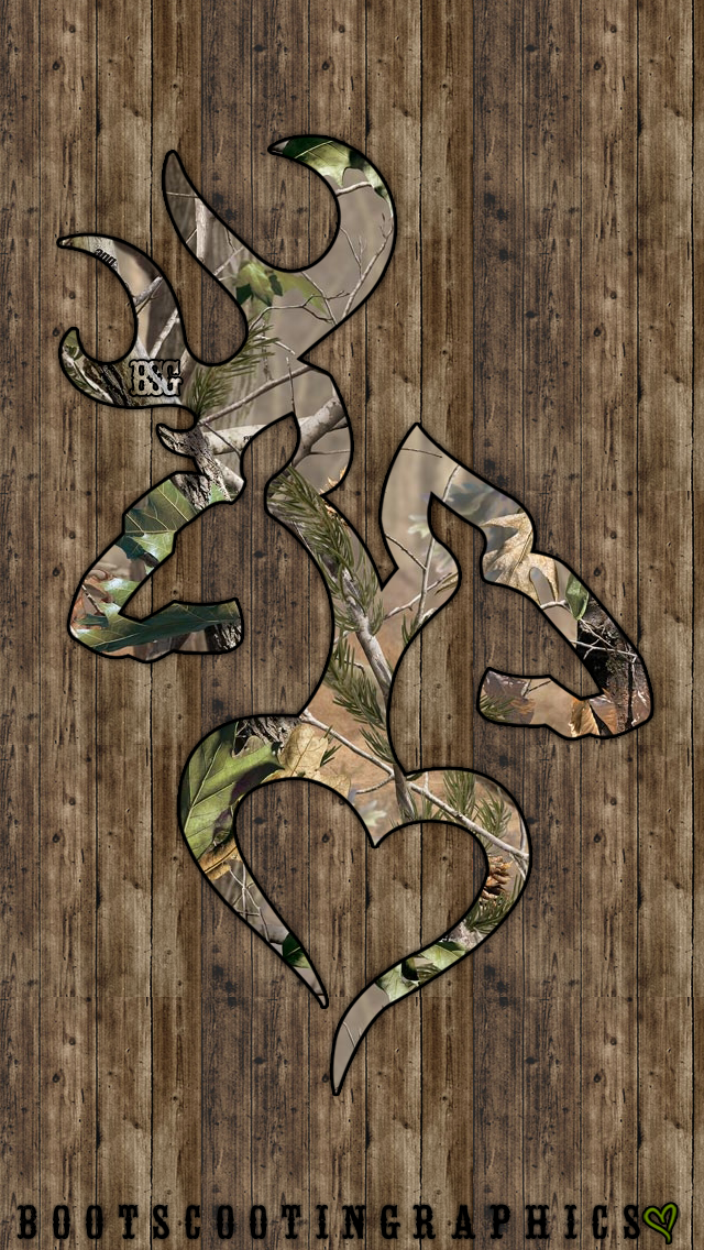Realtree Browning Heart iPhone 5/5S Wallpaper Camo is