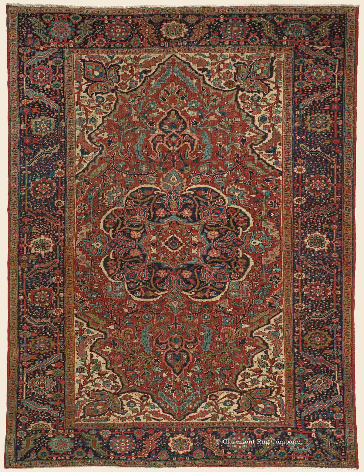 Ahar Heriz 8 6 X 11 3 Circa 1910 Price 9 500 Northwest Persian Antique Rug Claremont Ru Antique Persian Carpet Claremont Rug Company Carpet Runner