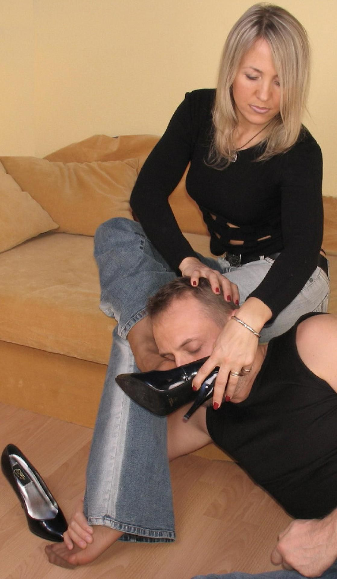 Mature feet domination very