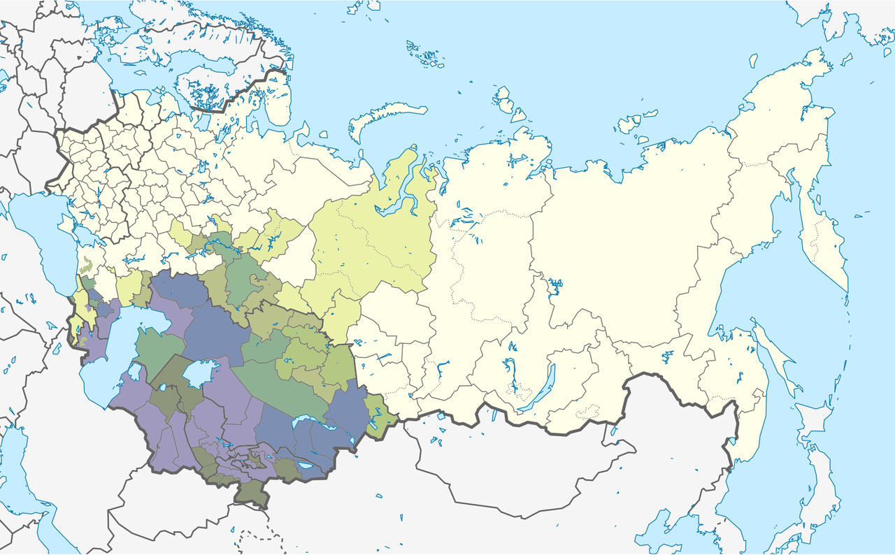 From Wikiwand Map Showing The Distribution Of Muslims Within The Soviet Union In 1979 In 2021 Soviet Union Union Fantasy Map