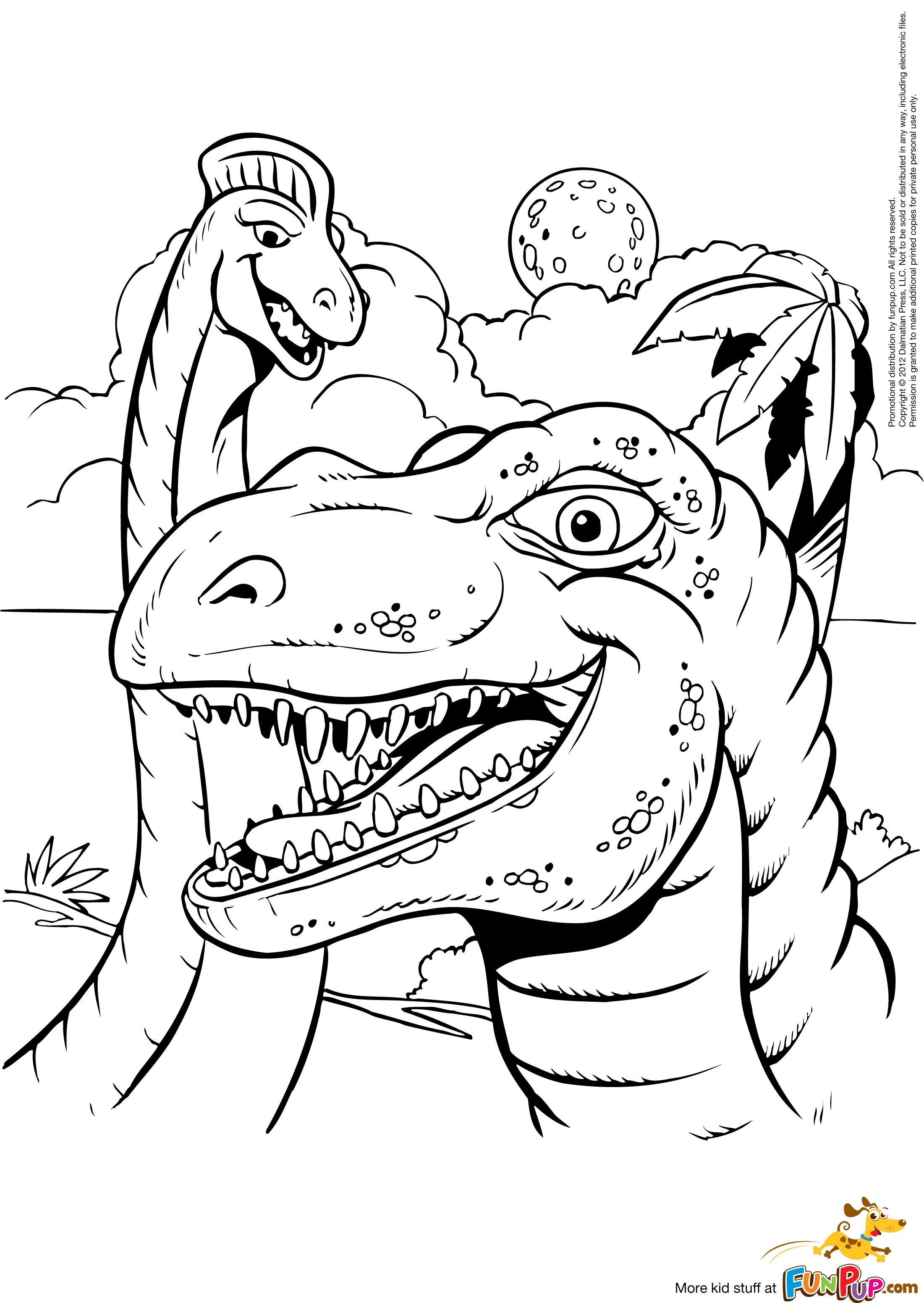 Argentinosaurus And T Rex 0 00 Dinosaur Coloring Pages