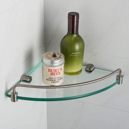 Elie Kraus KRAUS Corner Bathroom Shelf, Brushed Nickel Finish