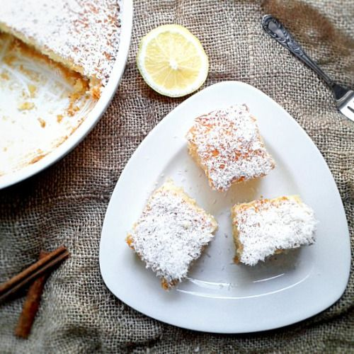 Coconut Semolina Cake-Get your hourly source of sweet...