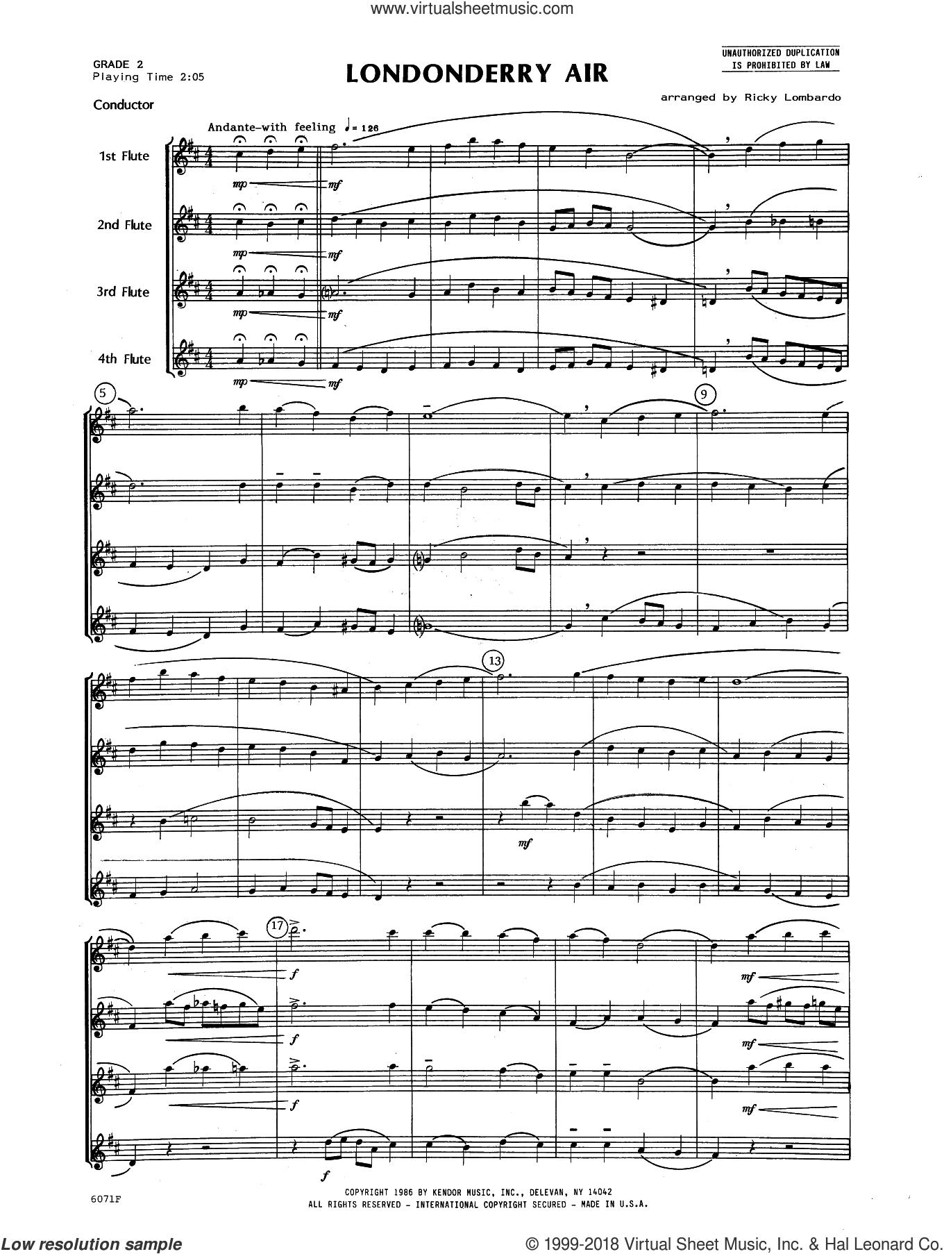 Lombardo - Londonderry Air sheet music ...