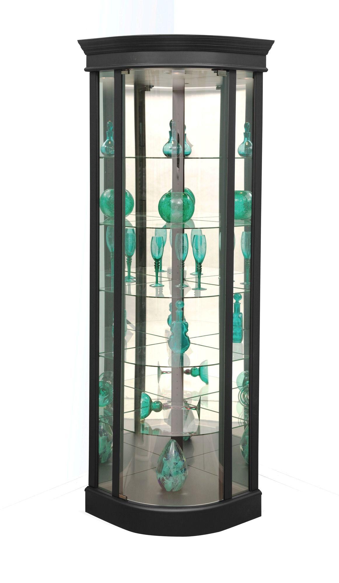 Auberge Iii Curved Corner Curio Cabinet In Black By Philip Reinisch