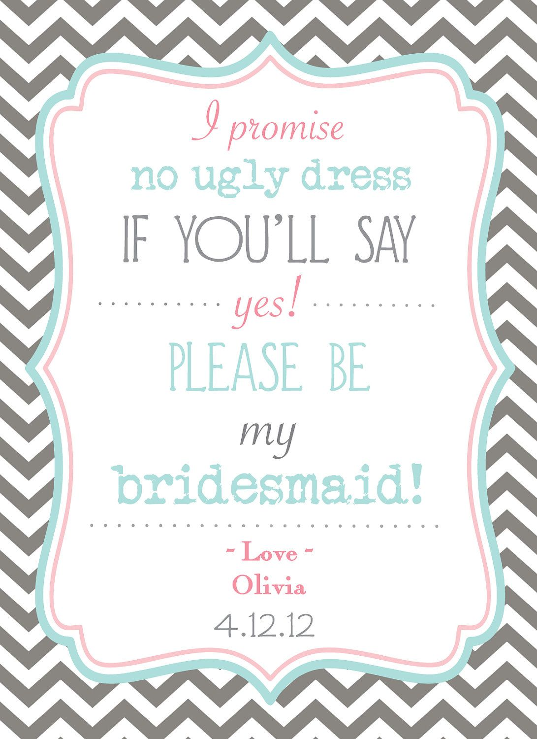 Bridesmaid Invite Stuff To Try Pinterest 50th Wedding And