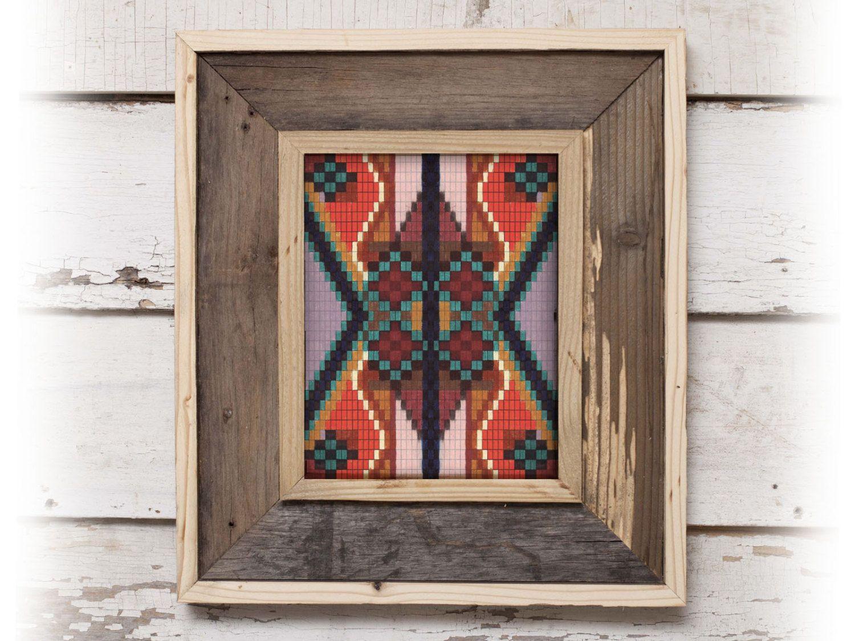 Tribal Pattern Art Print Southwestern Aztec Native