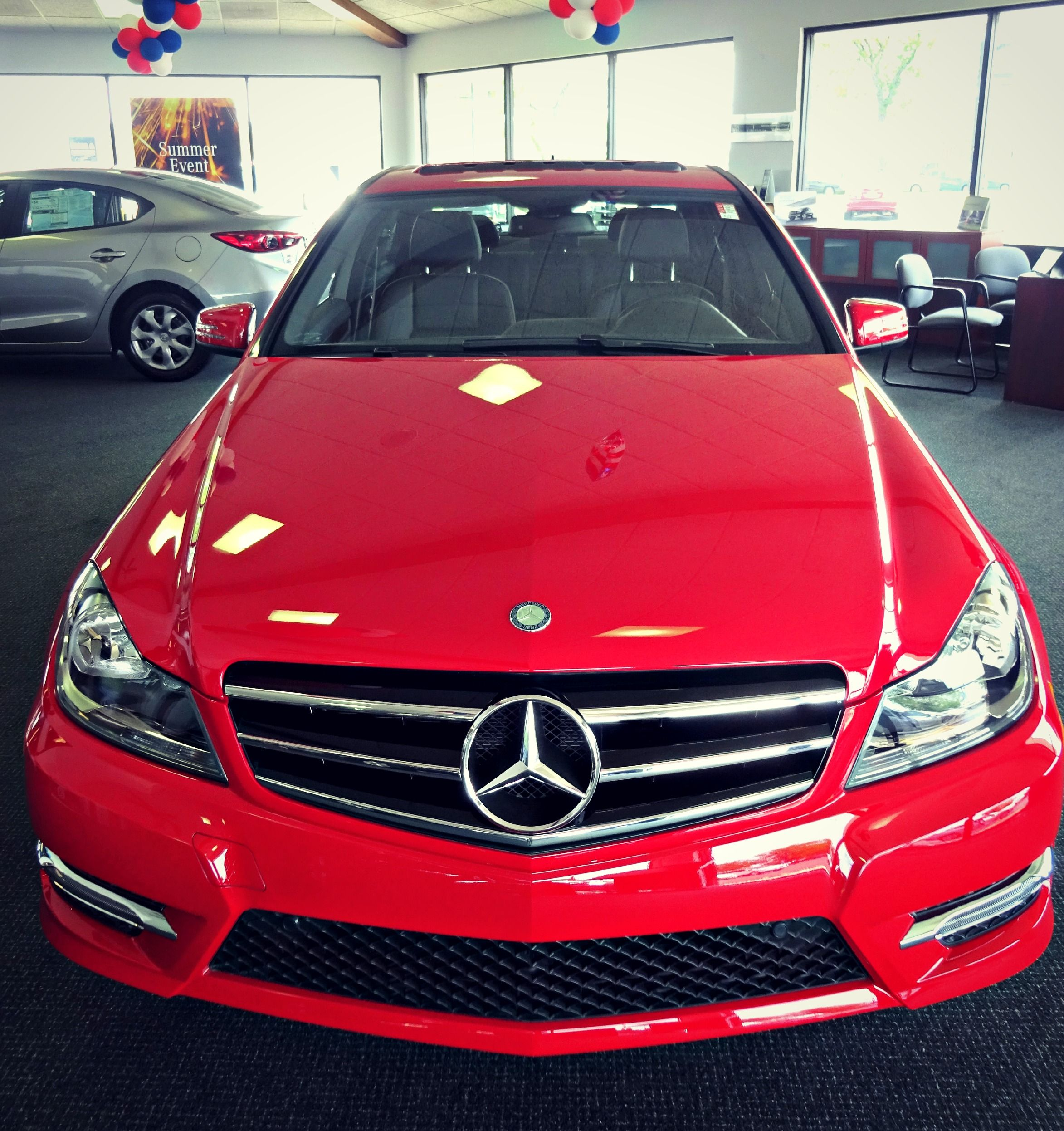 This 2014 Red Mercedes Benz C Class C300 Sport Needs A New Home