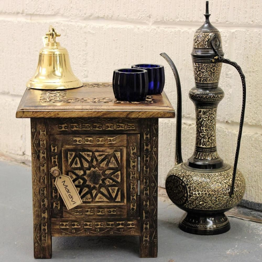 Details About Kumara Small Square Side Table Moroccan Style