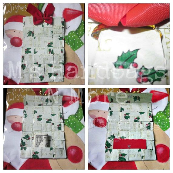 Woven Gift Card Holder from Upcycled by MsHandbagsNMore on Etsy, $5.00