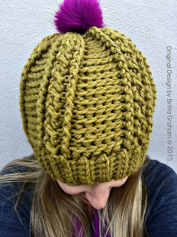 Easy Peasy Chunky Hat Pattern for Ladies - Crochet Cable Beanie ...