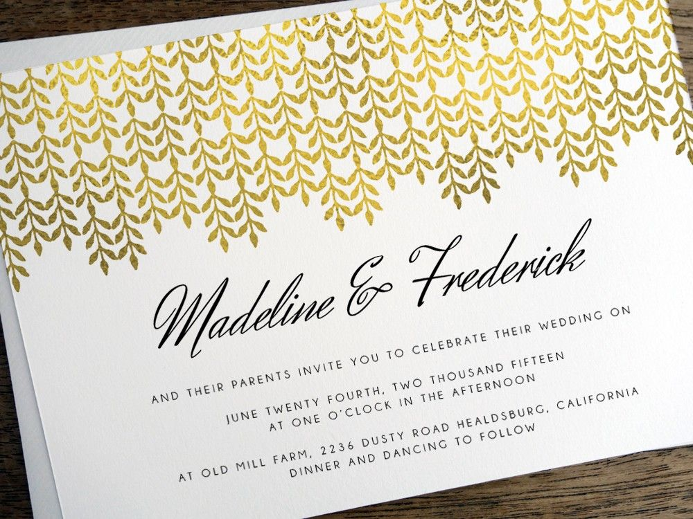 Printable Hochzeitseinladung Glamorous Gold Pinterest Weddings