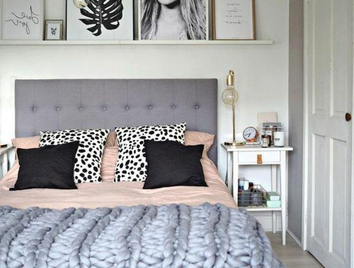 ▷ 1001 + idées pour chambre rose et gris, les nouvelles tendances - decoration pour porte d interieur