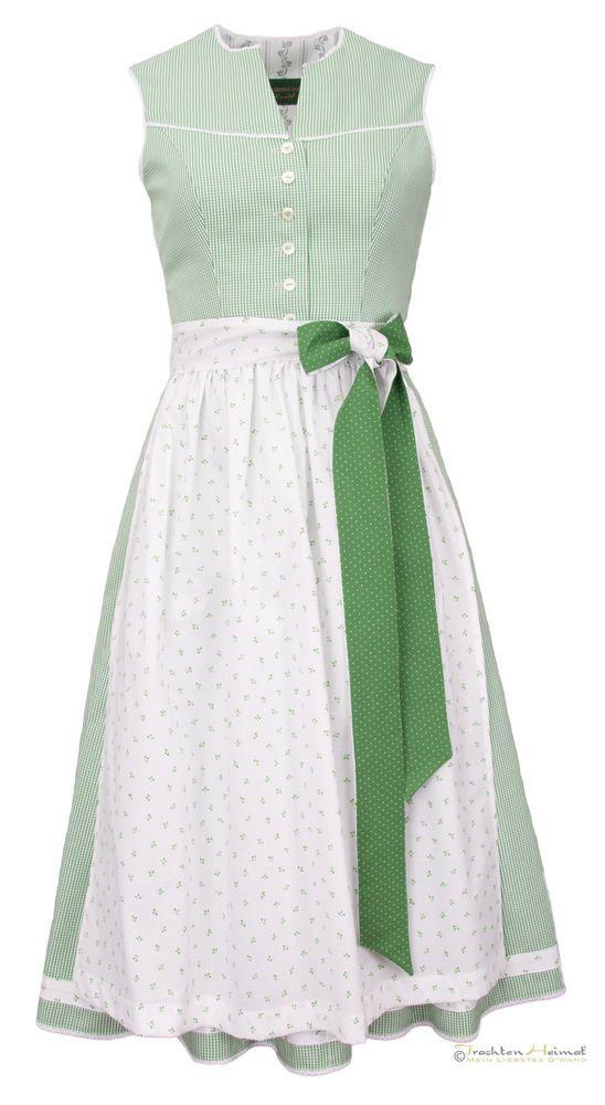f4782ea4fa50b WOW Vintage Dirndl Anno Domini Design Fanny grün kariert 70cm   Tracht