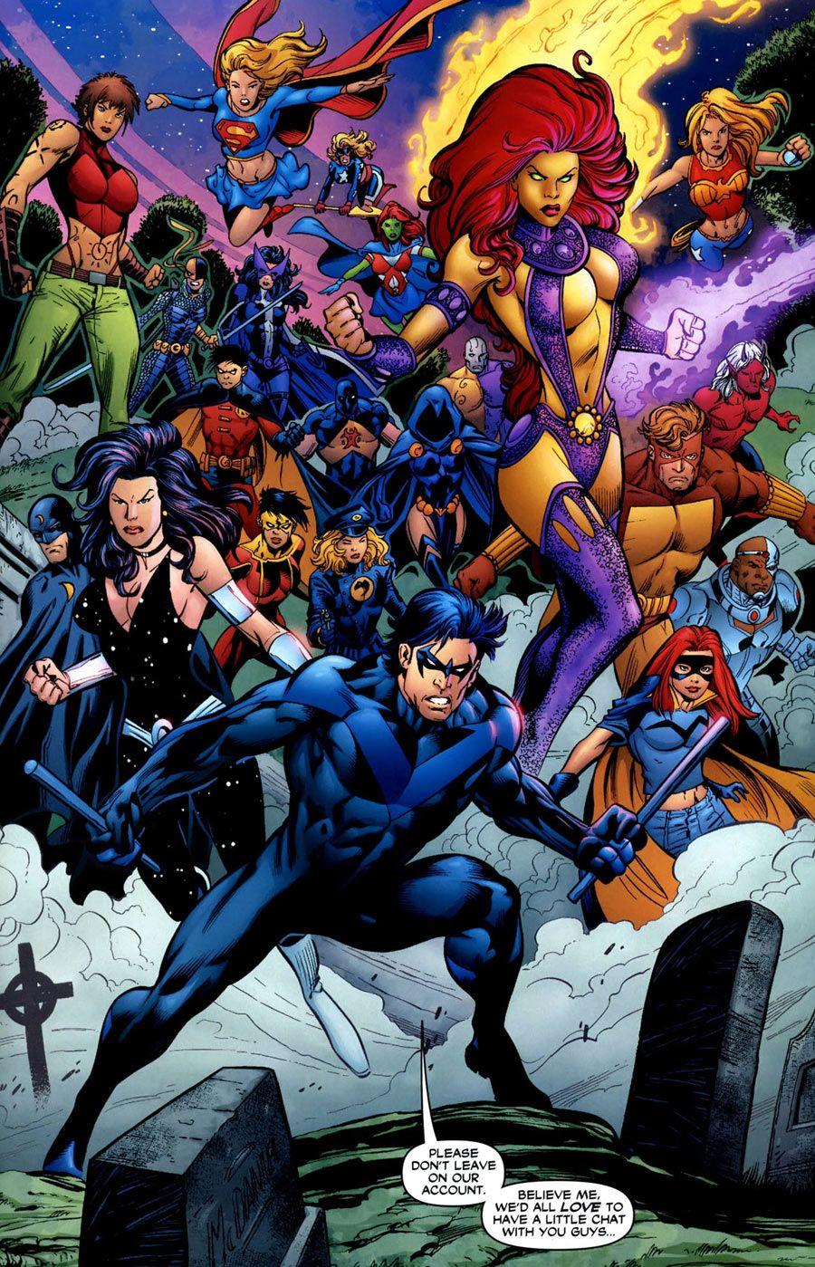Teen Titans By Mark Bagley  Marveldcimagedark Horse -2110