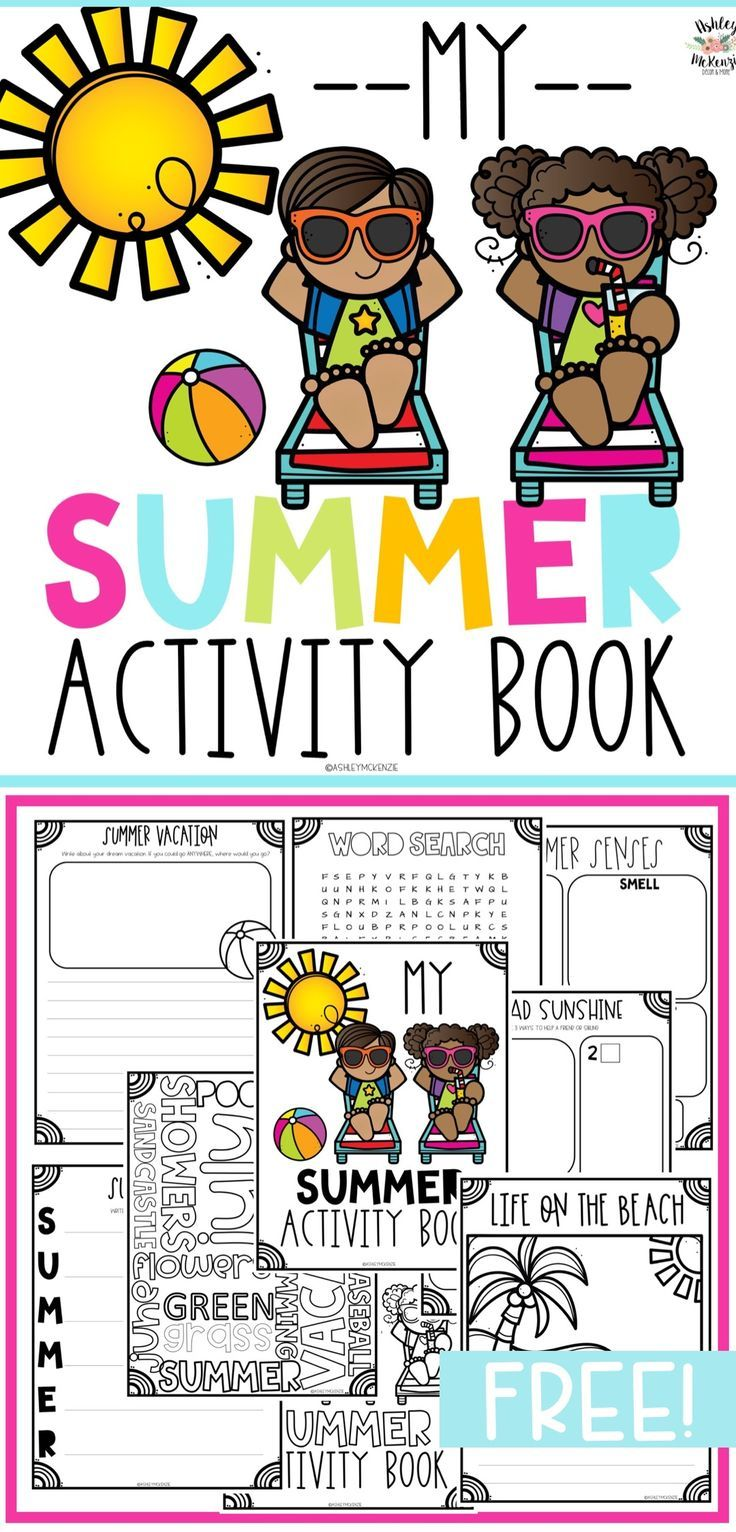 Summer or End Of Year Activity Book Freebie   TpT FREE LESSONS ...