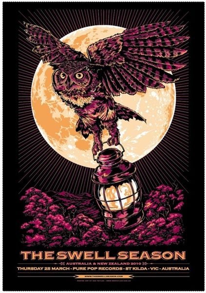 the swell season gig posters | The Swell Season Concert Poster by Ken Taylor