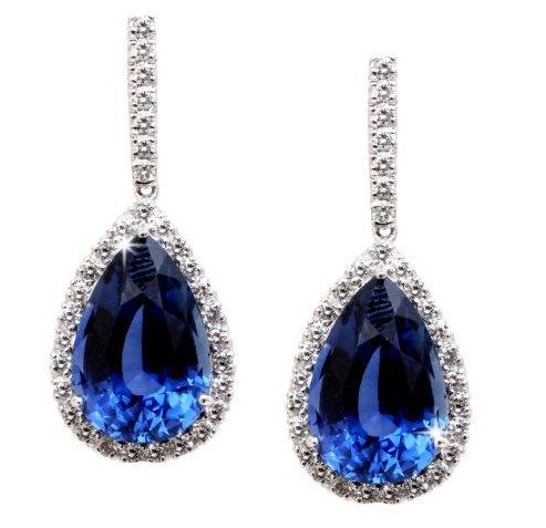 9d85b4cb7 Emsaru Ceylon Sapphire Drop Earrings. Emsaru Ceylon Sapphire Drop Earrings  Royal Blue And Gold ...