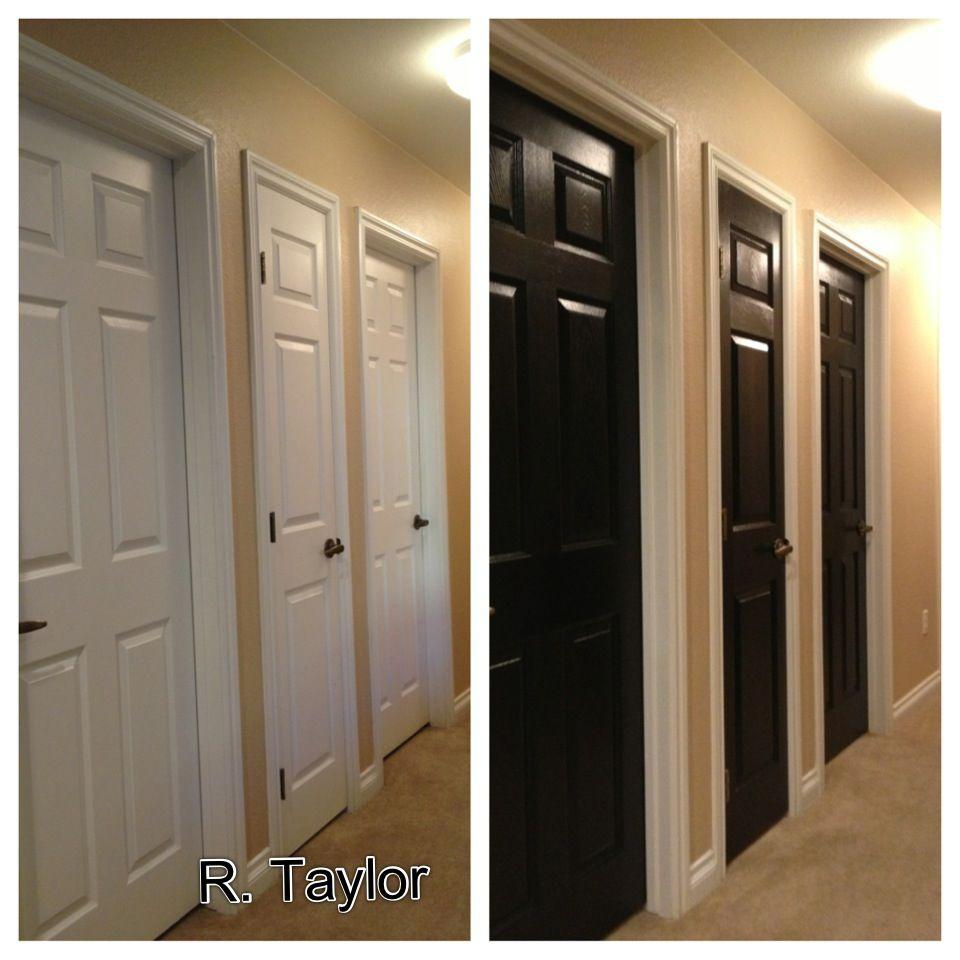 Love My New Black Hallway Doors!