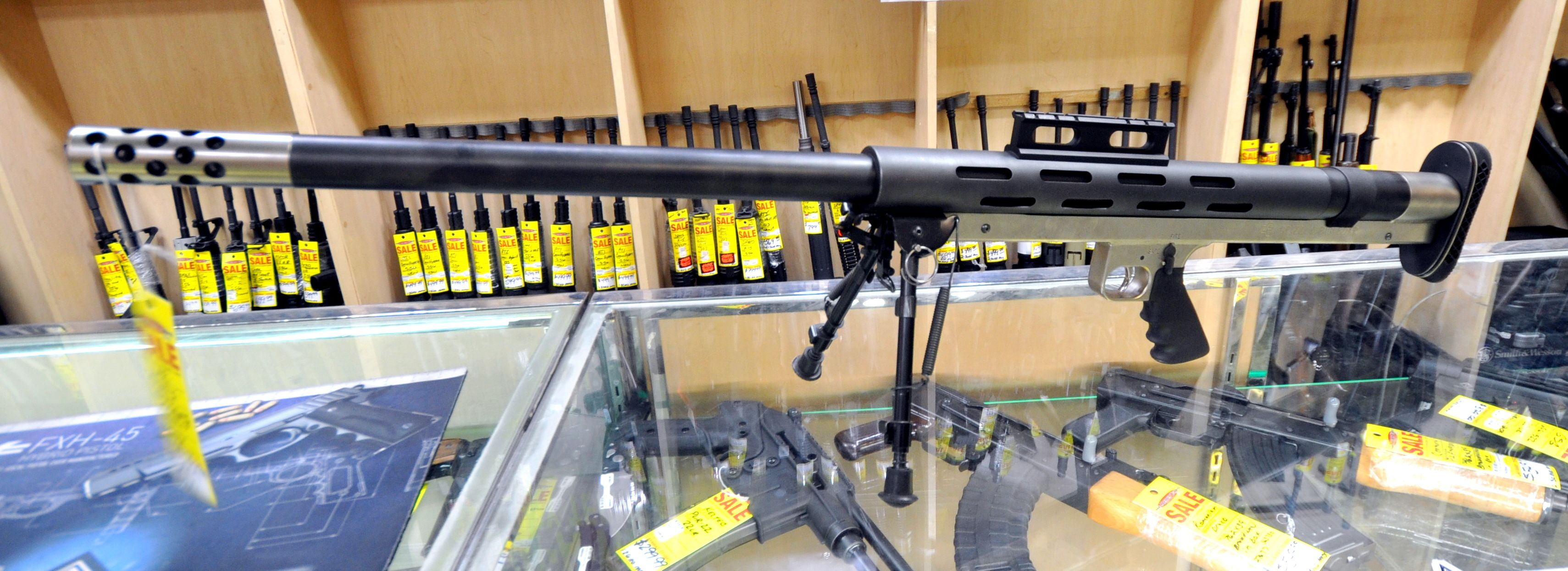 Lar Grizzly Big Boar Two Tone 50 Bmg Sniper Rifle Pre Owned