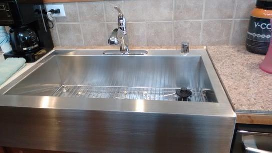 Kohler Vault Drop In Farmhouse A Front Stainless Steel 36 4 Hole Single Basin Kitchen Sink