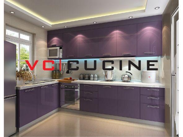 L Shape Pvc Purple Cabinet For Small Kitchen Kitchen Modular Purple Kitchen Cabinets Modern Kitchen Cabinet Design