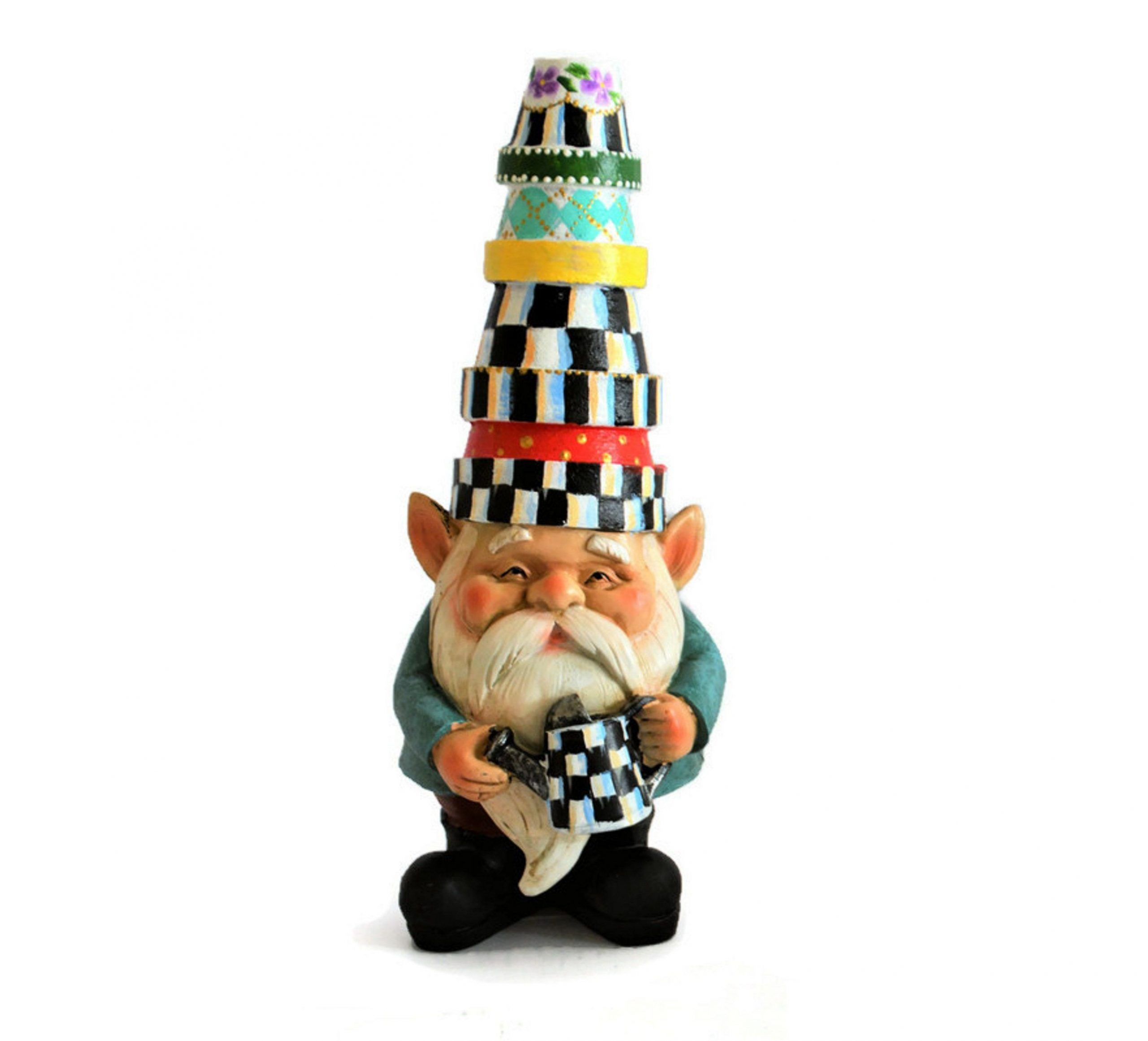 Custom hand painted decorative Gnome. Garden gnome. Garden statue#custom #decorative #garden #gnome #hand #painted #statue