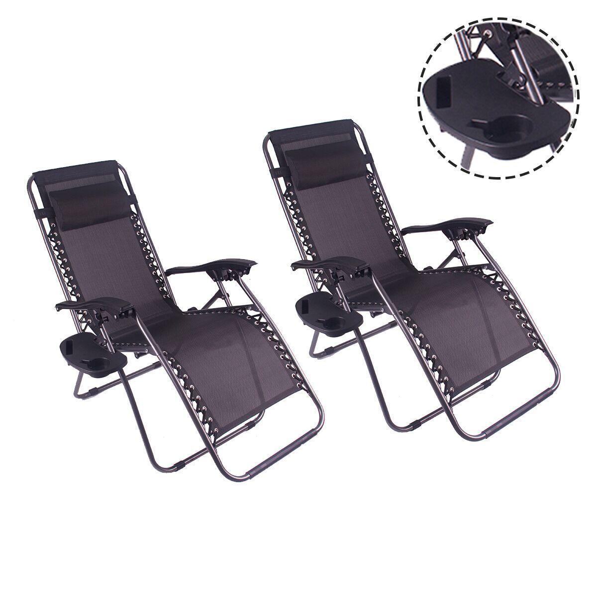 Outdoor Zero Gravity Lounge Chair Beach Patio Yard Folding