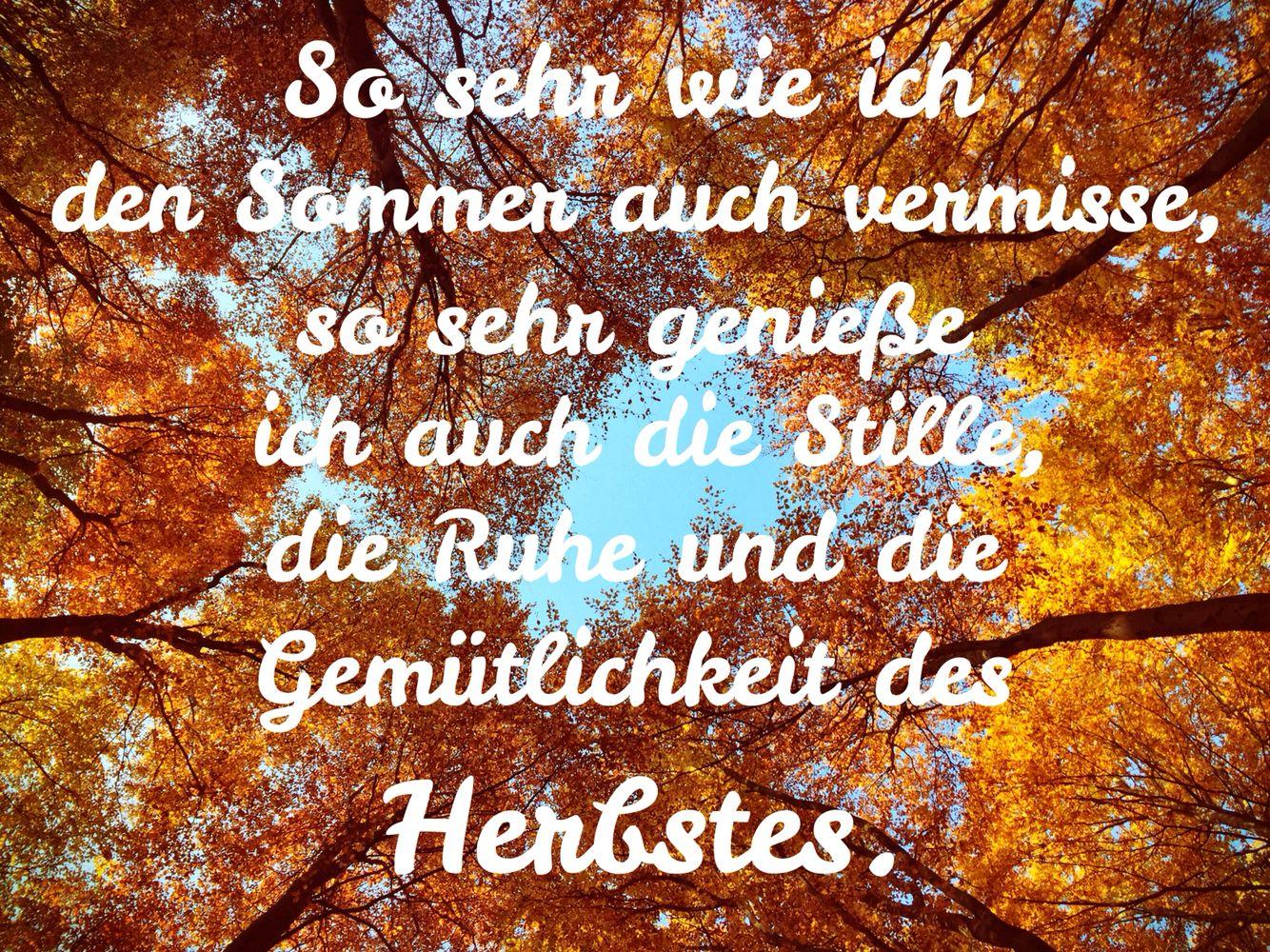 Herbst gem tlichkeit stille herbst pinterest for Zitate herbst