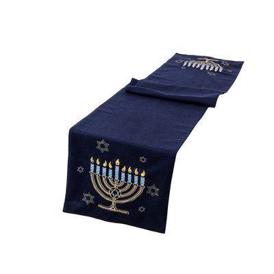 The Holiday Aisle Swanscombe Hanukkah Velvet Touch Light