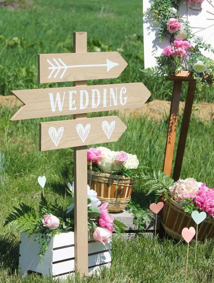 Romantic Bicycle Inspired Wedding Bicycle Direction Sign