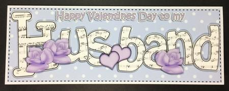 Card Gallery - Lge DL Valentine HUSBAND Hearts & Roses 3D decoupage
