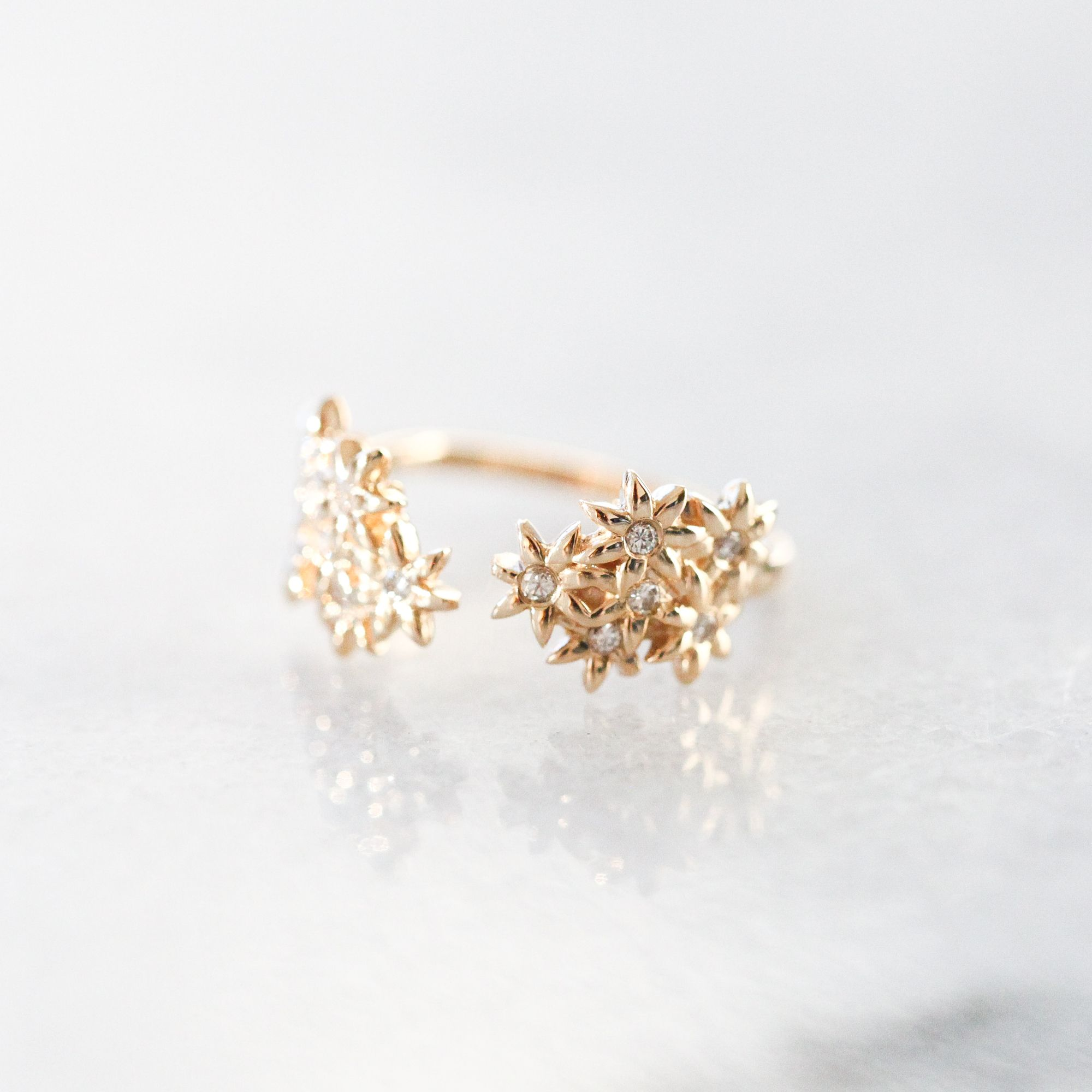 flower promise rings and diamond gwbfktq engagement style unique wedding non funky unusual beautiful