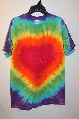 Rainbow Heart Size Medium - Sunshine Tie Dye Shop