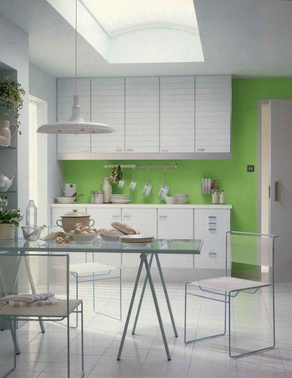 Unique Decoration Simple Green Kitchen Interior Ideas Wite And Simple Simple Interior Design Of Kitchen Inspiration