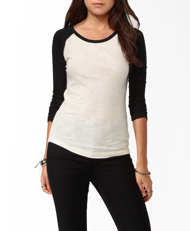 Ruched Sleeve Baseball Top 1090 From Forever 21 Wish List