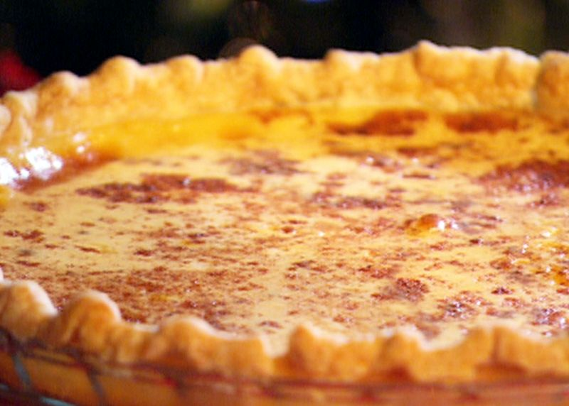 Old Fashioned Custard Pie Custard Pie Recipe Food Network Recipes